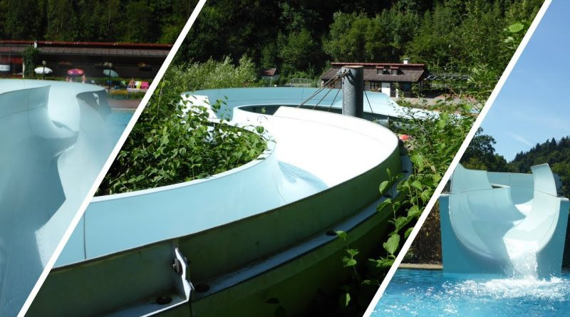 Freibadrutsche :: hangverlegte Riesenrutsche   Sommerbad Wirsberg